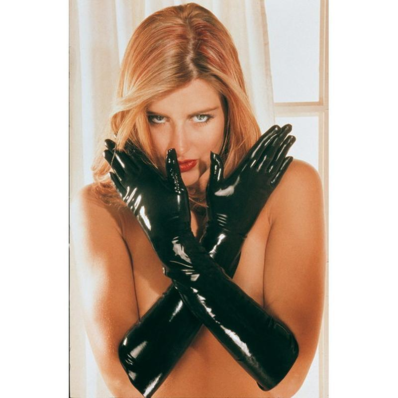 Photo de gants latex s noir