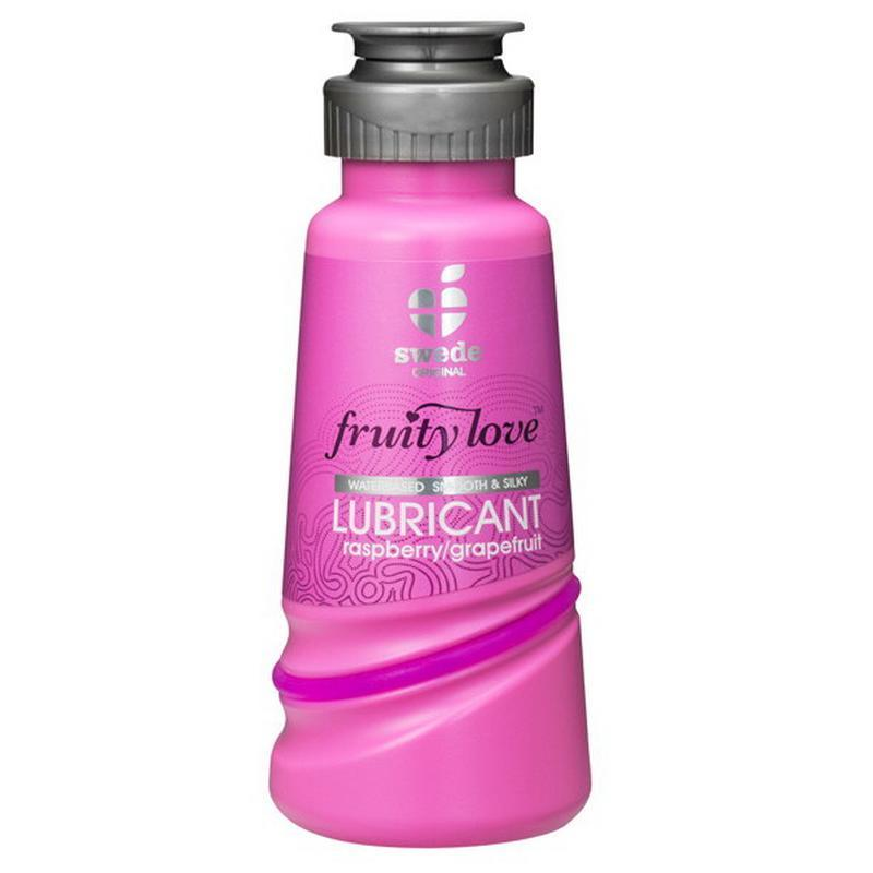 Photo de lubrifiant fruity love framboise pamplemouse 100ml