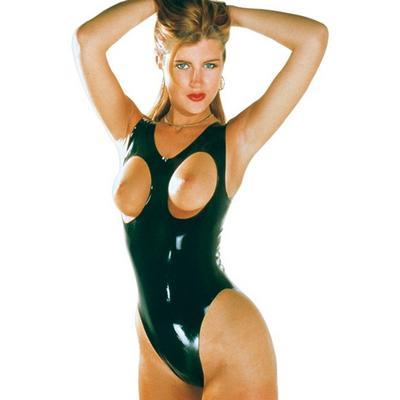 body ouvert latex m noir