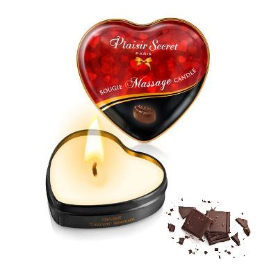 bougie de massage comestible chocolat