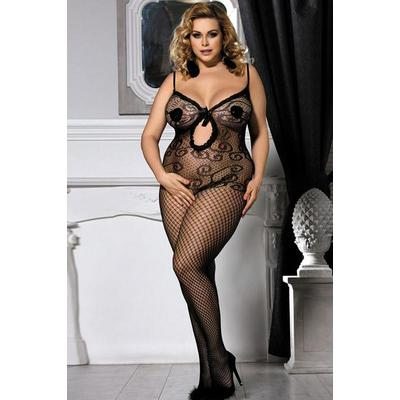 lingerie bodystocking grande taille résille dans Bodystocking grande taille