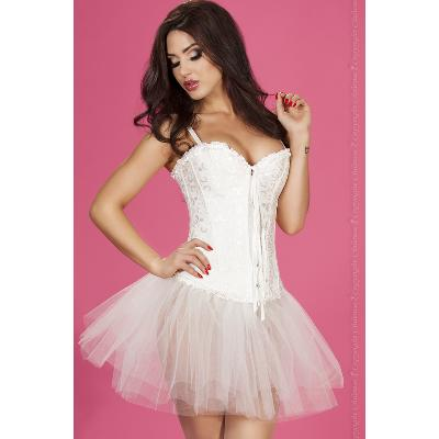 ensemble corset et string blanc 3XL