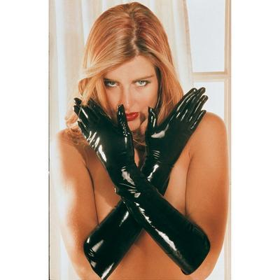 gants longs latex noir L