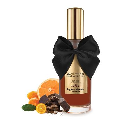 huile de massage embrassable chocolat noir et orange