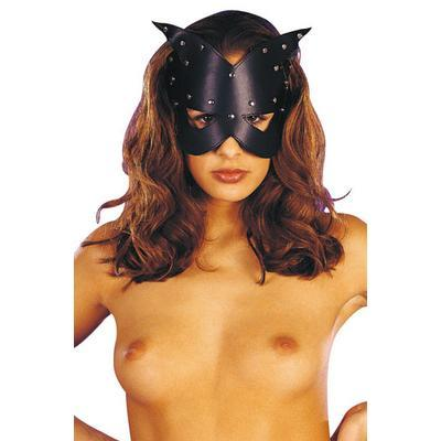 masque cuir cat eyes