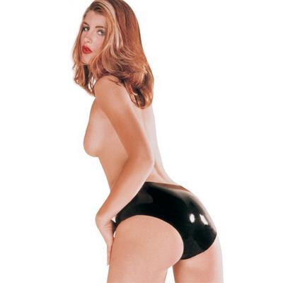 culotte latex noir