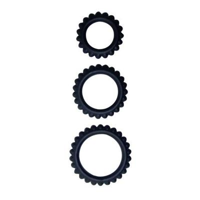 assortiment de 3 cockrings noir titan