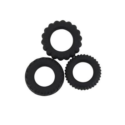 lot de 3 cockring titan noir