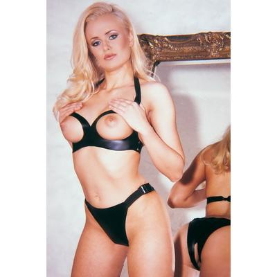 tenue fétish topless bra and panties tu noir dans Tenue fétish et SM